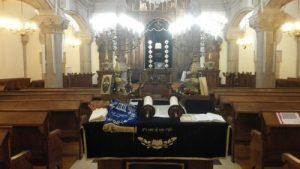 Intérieur de la synagogue