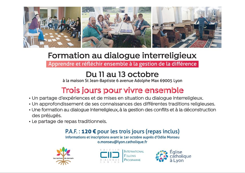 Formation au dialogue Interreligieux du 11 au 13 octobre 2019
